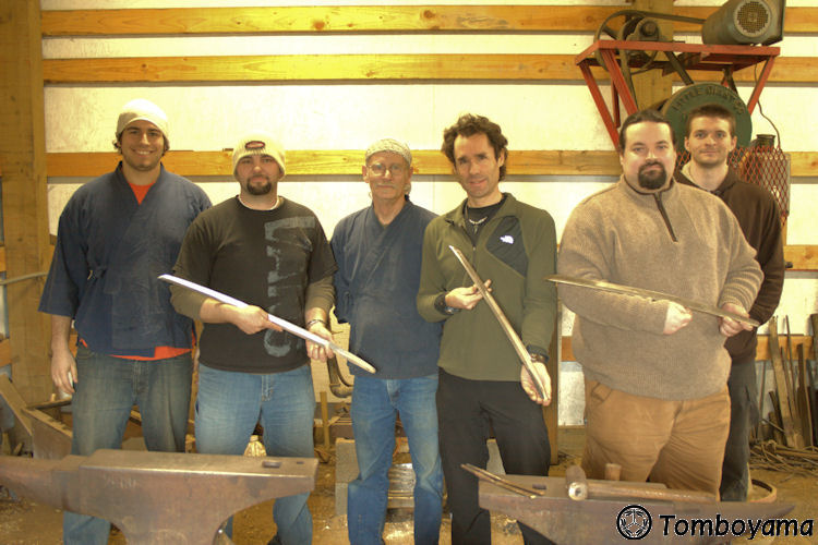 Tomboyama_-_March_2011_Basic_Forging_Course_045_class_photo